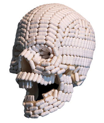skull made out of pills-lall natural health and wellness