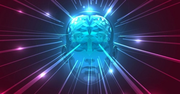 lines of light shooting out from a brain